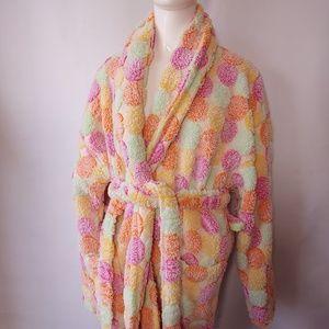 OSFA Colorful Polka Dot Fluffy Robe